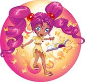 Book Magic Girl Royalty Free Stock Images