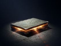 Book with magic powers. Magic Book with super powers - 3D Artwork Stock Photos