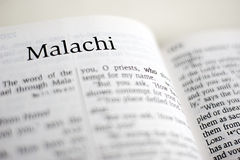 Book of Malachi Royalty Free Stock Photos