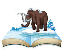 Book of mammoth on iceberg Stock Images