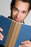 Book Man. Young black man holding book Stock Photo