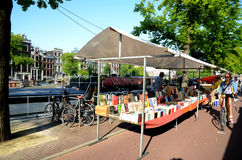 Book market in amsterdam Royalty Free Stock Photo