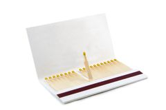 Book of matches. A book of matches, isolated on white background stock photos