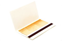 A book of matches. Isolated on white background stock images