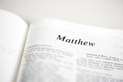 Book of Matthew Royalty Free Stock Photography