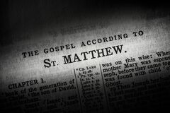 The book of Matthew in the King James Version of the Bible