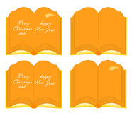 Book - Merry Christmas and happy New Year Royalty Free Stock Images