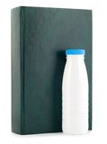 Book milk bottle Stock Photo
