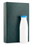Book milk bottle Stock Photo