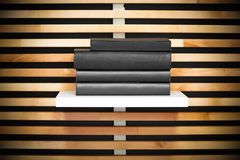 Book a modern wooden bookshelf Royalty Free Stock Photography