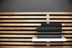 Book a modern wooden bookshelf Stock Images