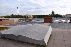 The book monument in Saint-Petersburg Stock Photography