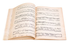 Book with music scores Royalty Free Stock Photos