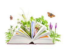 Book of nature Stock Image