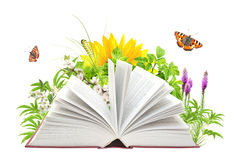 Book of nature. Isolated over white Royalty Free Stock Image