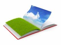 Book of  nature 3D. Photo album.. On white background Stock Photos