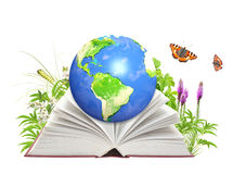 Book of nature and Earth Royalty Free Stock Image