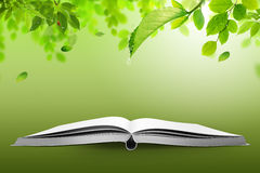 Book of nature. Open book with green nature, concept Royalty Free Stock Photos