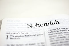 Book of Nehemiah Royalty Free Stock Image