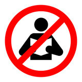 Book not allowed sign icon vector Royalty Free Stock Photography