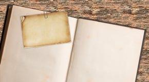 Book Note retro Stock Photo