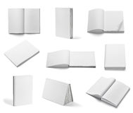 Book notebook textbook white blank paper template Royalty Free Stock Photos