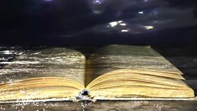 Book novel. The book is in the water. The e-book. Book novel.The book is in the water. The e-book stock video