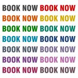 Book Now icons set. Vector icon Stock Image