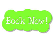 Book Now Means At This Time And Booking Stock Images