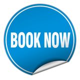 Book now sticker. Book now round sticker isolated on wite background. book now Stock Photos