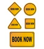 Book now signs Royalty Free Stock Photos