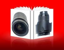 Book of objectives for the camera Stock Photo