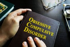Obsessive–compulsive disorder OCD. Book about Obsessive–compulsive disorder OCD Royalty Free Stock Images