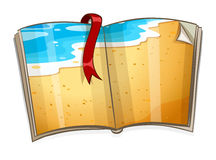 Book with ocean scene. Illustration vector illustration