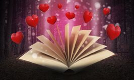 Free Book Of Love, Hearts, Background, Valentine, Forest Stock Image - 211049281