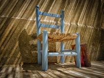 Book and old chair Royalty Free Stock Photo