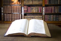 Book in old library Stock Image