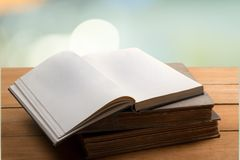 Book. Old open shelf document text reference Royalty Free Stock Images