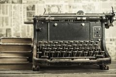 Book. Old writer journalist editor desk news Royalty Free Stock Images