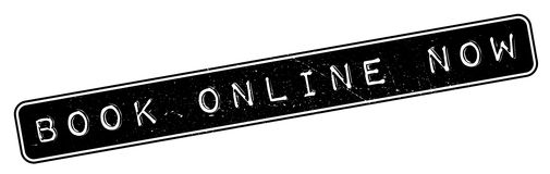Book Online Now rubber stamp Royalty Free Stock Images