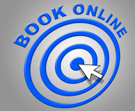 Book Online Represents World Wide Web And Booked Stock Photo