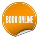 Book online sticker. Book online round sticker isolated on wite background. book online Stock Photos