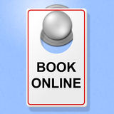 Book Online Sign Represents Single Room And Accommodation Royalty Free Stock Images