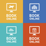 Book online vector icon Stock Photos