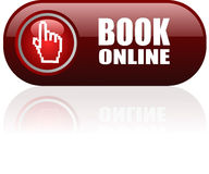 Book online web button Royalty Free Stock Photo