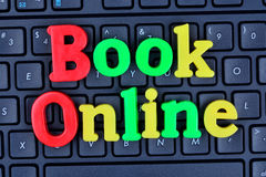 Book online words on computer keyboard Stock Photos