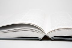 Book Open. Open book in an abstract environment Stock Image