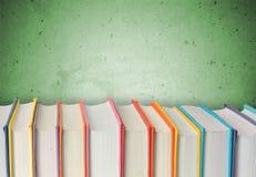 Book. Open club green covers school literature Stock Photos