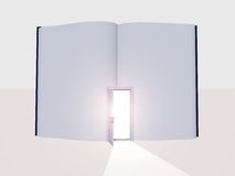 Book with open door Stock Images