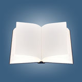 Book - Open empty Textbook. Book - the open school textbook with empty sheets on a blue background royalty free stock image